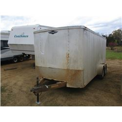 "COVENANT ENCLOSED TRAILER, - 78"" WIDE, 205/17.5D15 TIRES"
