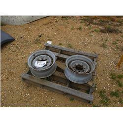 (2) STEEL TRUCK RIMS