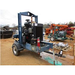 "PRIME AIRE 6"" PUMP W/JOHN DEERE DIESEL ENGINE, MOUNTED ON S/A TRAILER (UTILITY COMPANY OWNED)"