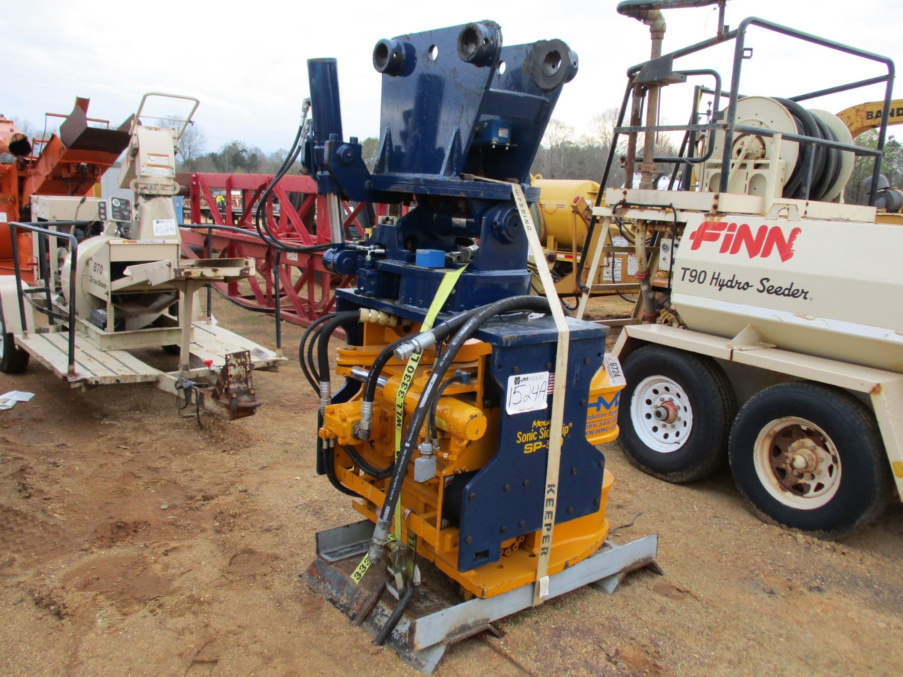 HMC SP-50 SONIC SIDE GRIP, PILE DRIVER, SHEET PILE IMPLEMENT, FITS HYD  EXCAVATOR, CONTROL IN OFFICE