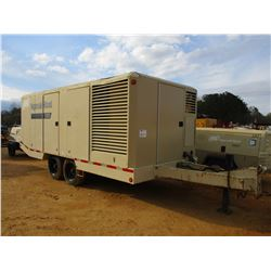 2008 INGERSOLL-RAND 1300 CFM AIR COMPRESSOR, VIN/SN:336885 - CUMMINS DIESEL ENGINE, METER READING 2,