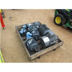 (8) MISC SIZE ELECTRIC MOTORS