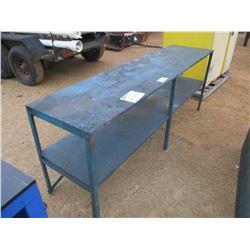 2' X 8' METAL/WOOD TABLE