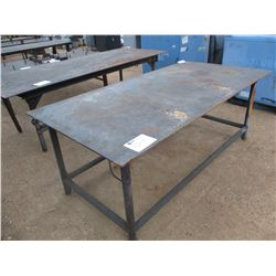 4' X 8' METAL TABLE