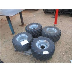 (4) 26X12.00-12 TIRES AND RIMS, FOAM FILLED