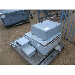 (5) MISC SIZE ELECTRICAL CONTROL PANELS