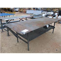 4' X 10' METAL TABLE