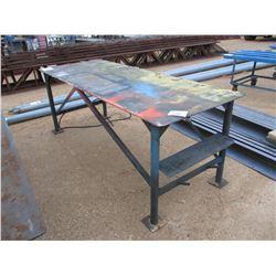 3' X 8' METAL TABLE