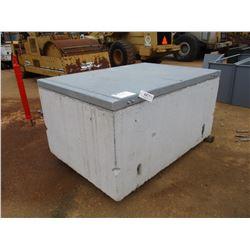 "CONCRETE BOX WITH GALVANIZED LID- 54""X78""X36"""