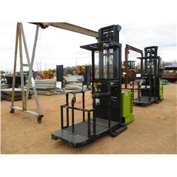 CLARK 0P7 ELECTRIC FORKLIFT, VIN/SN:0P7-060BPM8211 - W/WINDOW ATTACHMENT, METER READING 1,804 HOURS
