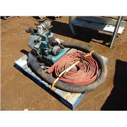 HOMELIFE TRASH PUMP W/HOSES, GAS ENGINE