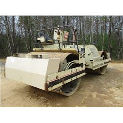 """INGERSOLL-RAND DD-110 ROLLER, VIN/SN:5296 - VIBRATORY, TANDEM, 84"""" SMOOTH DRUMS, WATER SYSTEM, METER"""