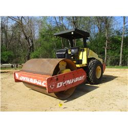 """2001 DYNAPAC CA262D ROLLER, VIN/SN:67220432 - VIBRATORY, 84"""" SMOOTH DRUM, CANOPY, METER READING 1,42"""
