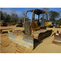 2005 JOHN DEERE 650J LGP CRAWLER TRACTOR, VIN/SN:101281 - 6 WAY BLADE, SWEEPS, REAR SCREEN, METER RE