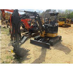 """2011 JOHN DEERE 35D MINI EXCAVATOR, VIN/SN:266590 - 4'-6"""" STICK, 22"""" BUCKET, HYD THUMB, AUX HYD, BLA"""