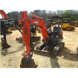 "2014 KUBOTA KX71-3S MINI EXCAVATOR, VIN/SN:20368 - 4' 6"" STICK, QUICK COUPLER, 18"" BUCKET, HYD THUMB"