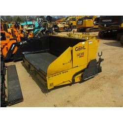 2003 GEHL 1438 ASPHALT PAVER, VIN/SN:KK0314019 - 8'-12' SCREED, KOHLER ENGINE, METER READING 2,722 H