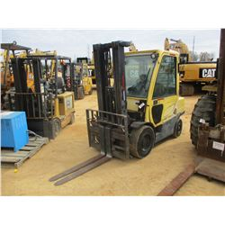 HYSER 60 FORK LIFT, VIN/SN:L177B09261D - 5,000 LB CAPACITY, DOUBLE STAGE MAST, ECAB W/AIR, METER REA