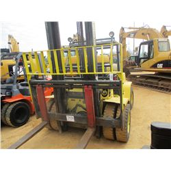 HYSTER H135XL FORKLIFT, VIN/SN:1718P - 6,300# CAPACITY, DOUBLE STAGE MAST, LP GAS, CANOPY, METER REA