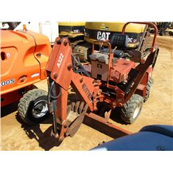 """DITCH WITCH 3700DD TRENCHER, VIN/SN:3W0055 - 4X4, A322 BACKHOE ATTACH, 5' REAR TRENCHER, 12"""" BUCKET,"""