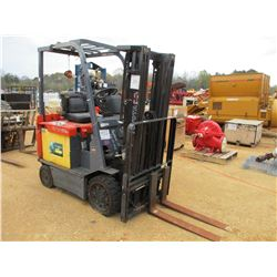 TOYOTA 7FBCU20 FORKLIFT, VIN/SN:66243 - ELECTRIC, 3500# CAP, TRIPLE STAGE, ROLLOVER BAR