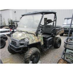 2011 POLARIS XP 800 SIDE BY SIDE, VIN/SN:4XATM76A9B2244128 - 4X4, GAS ENGINE, DUMP BED, CANOPY, WIND