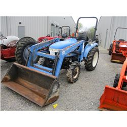 2003 NEW HOLLAND TC33D FARM TRACTOR, VIN/SN:G040983 - MFWD, 3 PTH, PTO, 2408 RINO FRONT LOADER ATTAC