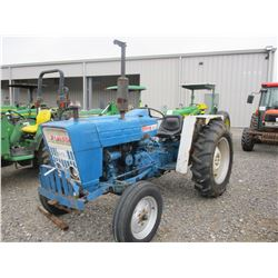 FORD 3000 FARM TRACTOR, VIN/SN:572762 - 3 PTH, PTO, 12.4-28 TIRES, METER READING 3,276 HOURS