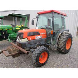 KUBOTA L4330D FARM TRACTOR, VIN/SN:32022 MFWD, ECAB W/AIR, 3 PTH, PTO, METER READING 2,213 HOURS (CO