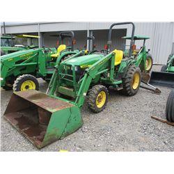 2000 JOHN DEERE 4400 FARM TRACTOR, VIN/SN:340460 - MFWD, FRONT LOADER BUCKET ATTACHMENT, REAR JOHN D