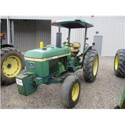 1981 JOHN DEERE 2040 FARM TRACTOR, VIN/SN:392765 - 3 PTH, PTO, CANOPY, METER READING 7,103 HOURS