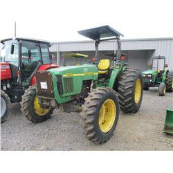 2001 JOHN DEERE 5510 FARM TRACTOR, VIN/SN:550277 - MFWD, 3 PTH, PTO, 3 REMOTES, CANOPY, 1834-30 TIRE