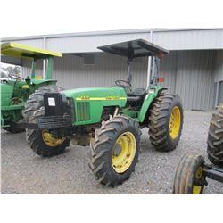 2001 JOHN DEERE 5510 FARM TRACTOR, VIN/SN:502276 - MFWD, 3 PTH, PTO, 3 REMOTES, CANOPY, 18.4X30 TIRE