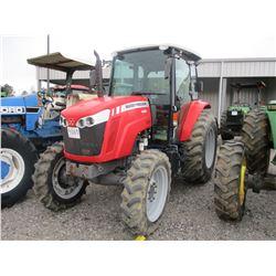 MASSEY FURGUSON 4608 FARM TRACTOR, - MFWD, 3PTH, PTO, 2 REMOTES, ECAB W/AIR, 16.9-30 TIRES, METER RE