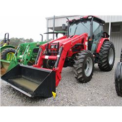2014 MAHINDRA M POWER 85P FARM TRACTOR, VIN/SN:KNGCY1336EE - MFWD, MAHINDRA 85 PL FRONT LOADER ATTAC