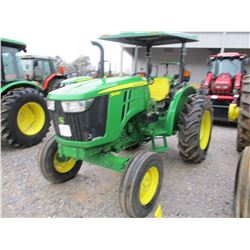 JOHN DEERE 5045E FARM TRACTOR, VIN/SN:100493 - 3 PTH, PTO, REMOTE, CANOPY, 14.9-28 TIRES, METER READ