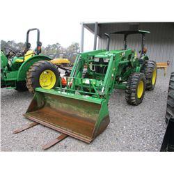 2014 JOHN DEERE 5055E FARM TRACTOR, VIN/SN:110579 - MFWD, 3 PTH, PTO, 1 REMOTE, H240 LOADER ATTACHME