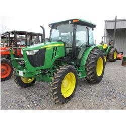 2013 JOHN DEERE 5055E FARM TRACTOR, VIN/SN:400394 - MFWD, 3 PTH, PTO, 1 REMOTE, ECAB W/AIR, 16.9-28