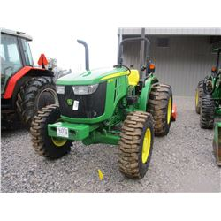 JOHN DEERE 5075E FARM TRACTOR, VIN/SN:111188 - MFWD, 3PTH, PTO, 1 REMOTE, CANOPY, 16.9-24 TIRES, MET