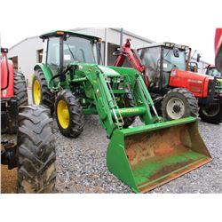 2013 JOHN DEERE 5101E FARM TRACTOR, VIN/SN:540329 - MFWD, 3 PTH, PTO, 2 REMOTES, ECAB W/AIR, 18.4-30