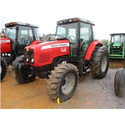 2007 MASSEY FERGUSON 5465 FARM TRACTOR, VIN/SN:R292045 - MFWD 3 PTH, PTO, 3 REMOTES, ECAB W/AIR, 18.