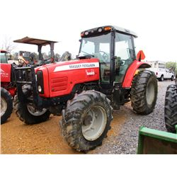 2008 MASSEY FERGUSON 5465 FARM TRACTOR, VIN/SN:S010042 - MFWD, 3 PTH, PTO, 3 REMOTES, ECAB W/AIR, 18