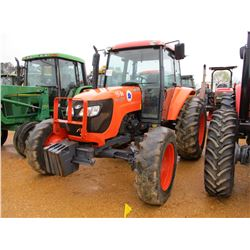 KUBOTA M108S FARM TRACTOR, VIN/SN:72437 - MFWD, 3 PTH, PTO, 3 REMOTES, ECAB W/AIR, 18.4.34 TIRES, ME