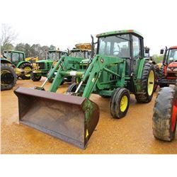 1993 JOHN DEERE 6400 FARM TRACTOR, VIN/SN:116769 - 3 PTH, PTO, 2 REMOTES, JOHN DEERE 620 FRONT LOADE