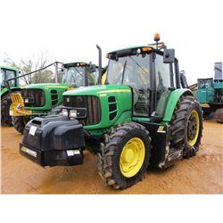 2011 JOHN DEERE 6430 FARM TRACTOR, VIN/SN:680973 - MFWD, 3 PTH, PTO, 2 REMOTES, ALAMO 60 SIDE MOUNTE