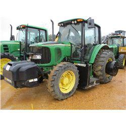 JOHN DEERE 6320 FARM TRACTOR, - MFWD, 3 PTH, PTO, 3 REMOTES, ALAMO MAVERICK II, 60 SIDE MOUNTED ROTA