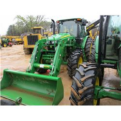 2016 JOHN DEERE 6120E FARM TRACTOR, VIN/SN:G0001240 - MFWD, JD H310 LOADER, GP BUCKET, ECAB W/AIR, 4