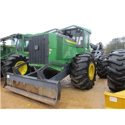 2016 JOHN DEERE 648L SKIDDER, VIN/SN:673607 - GRAPPLE, DUAL ARCH, WINCH, ECAB W/AIR, 30.5L-32 TIRES,