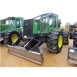2013 JOHN DEERE 648H SKIDDER, VIN/SN:654873 - GRAPPLE, DUAL ARCH, WINCH, ECAB W/AIR, 30.5-32 TIRES,