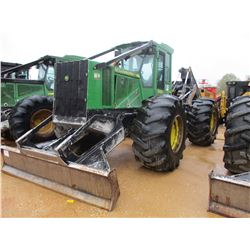 2013 JOHN DEERE 648H SKIDDER, VIN/SN:651376 - GRAPPLE, DUAL ARCH, WINCH, ECAB W/AIR, 305L-32 TIRES,
